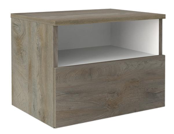chevet Chambre a couché laqué blanc- bois- moderne- prado