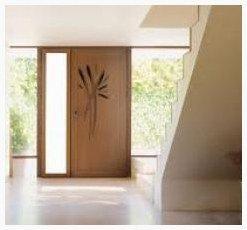 portes d'entrées mixte bois aluminium