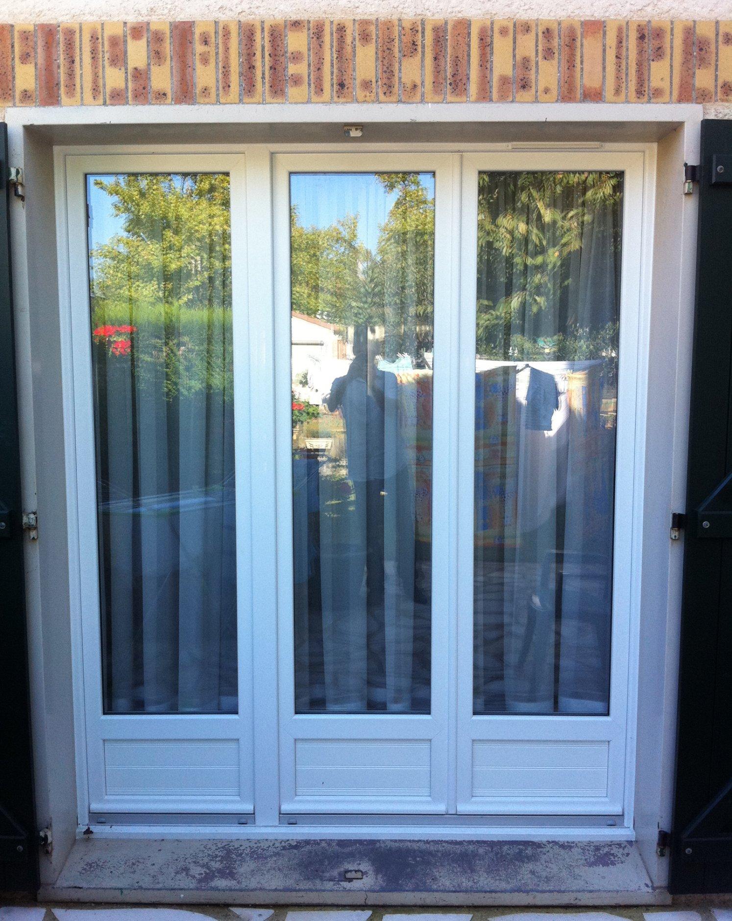 Esprit d'ouvertures Blandy(77) porte-fenêtre PVC dépose totale 4/16/4 deceuninck devis prix fenêtre PVC