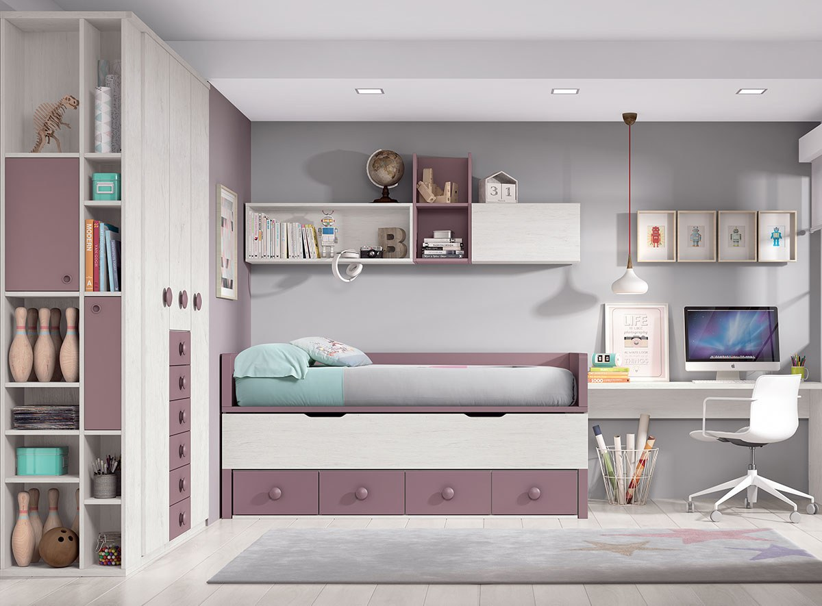 Camas compactas F004 chambre aménagé