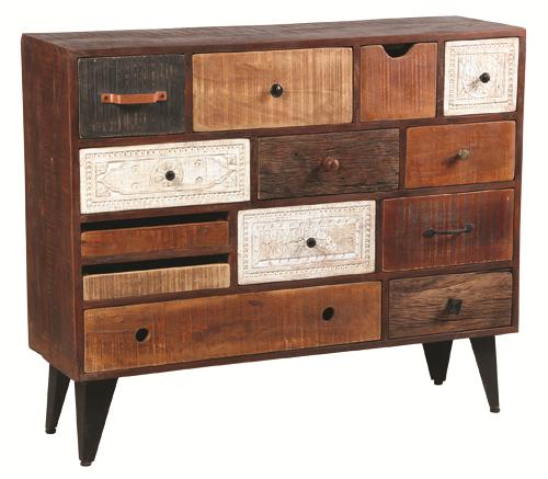 Commode 13 tiroir décoration bois Réf 1850