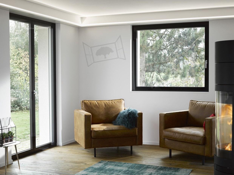 Fenêtre Clara Suisse 1 vantail noire porte-fenêtre Clarafenster