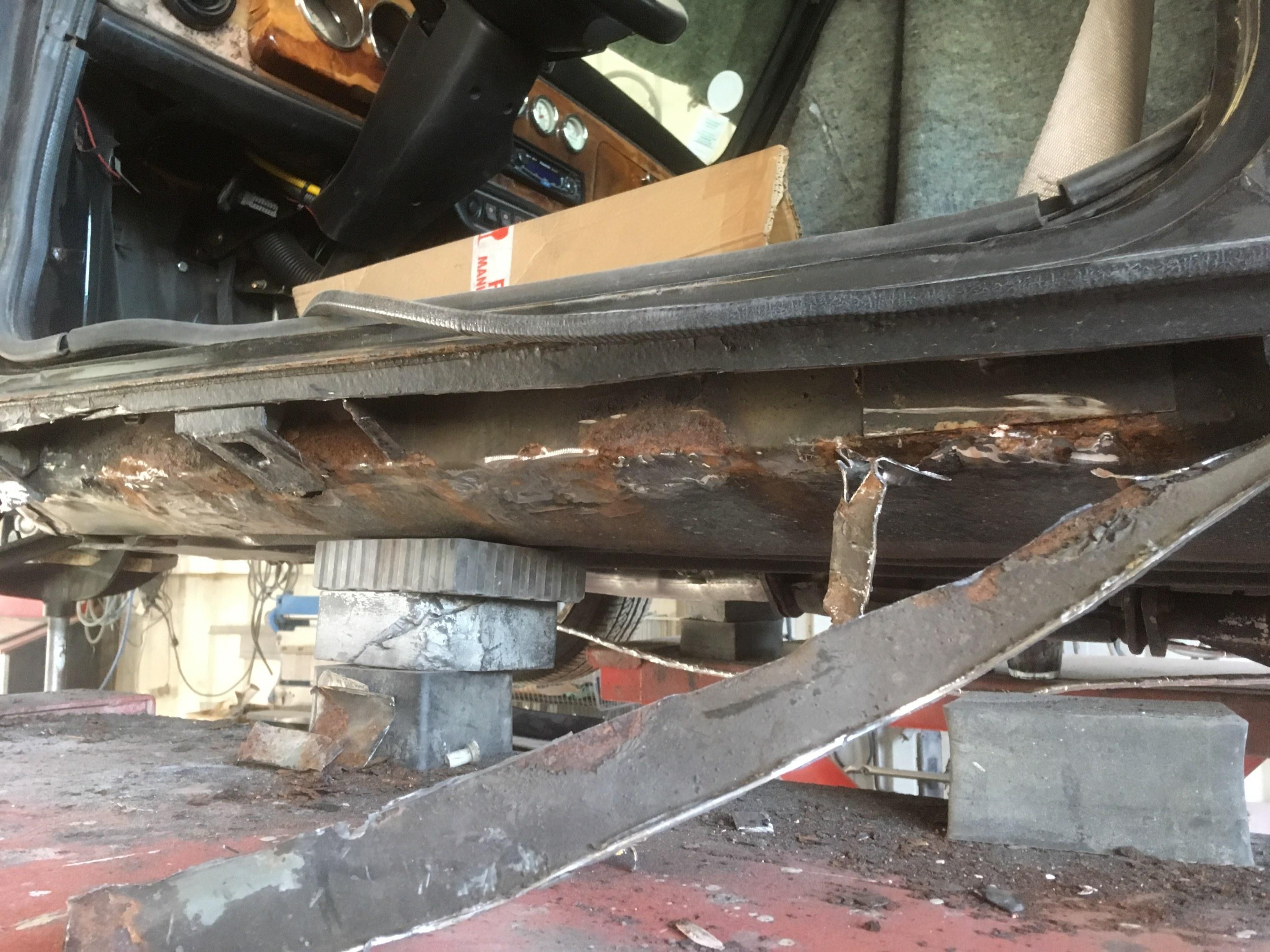 beaucoup de corrosion suite à une rénovation un peu baclée !!