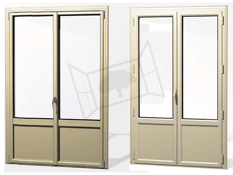 Porte-fenêtre aluminium prefal tradition maxilight beige RAL 1015 comparatif