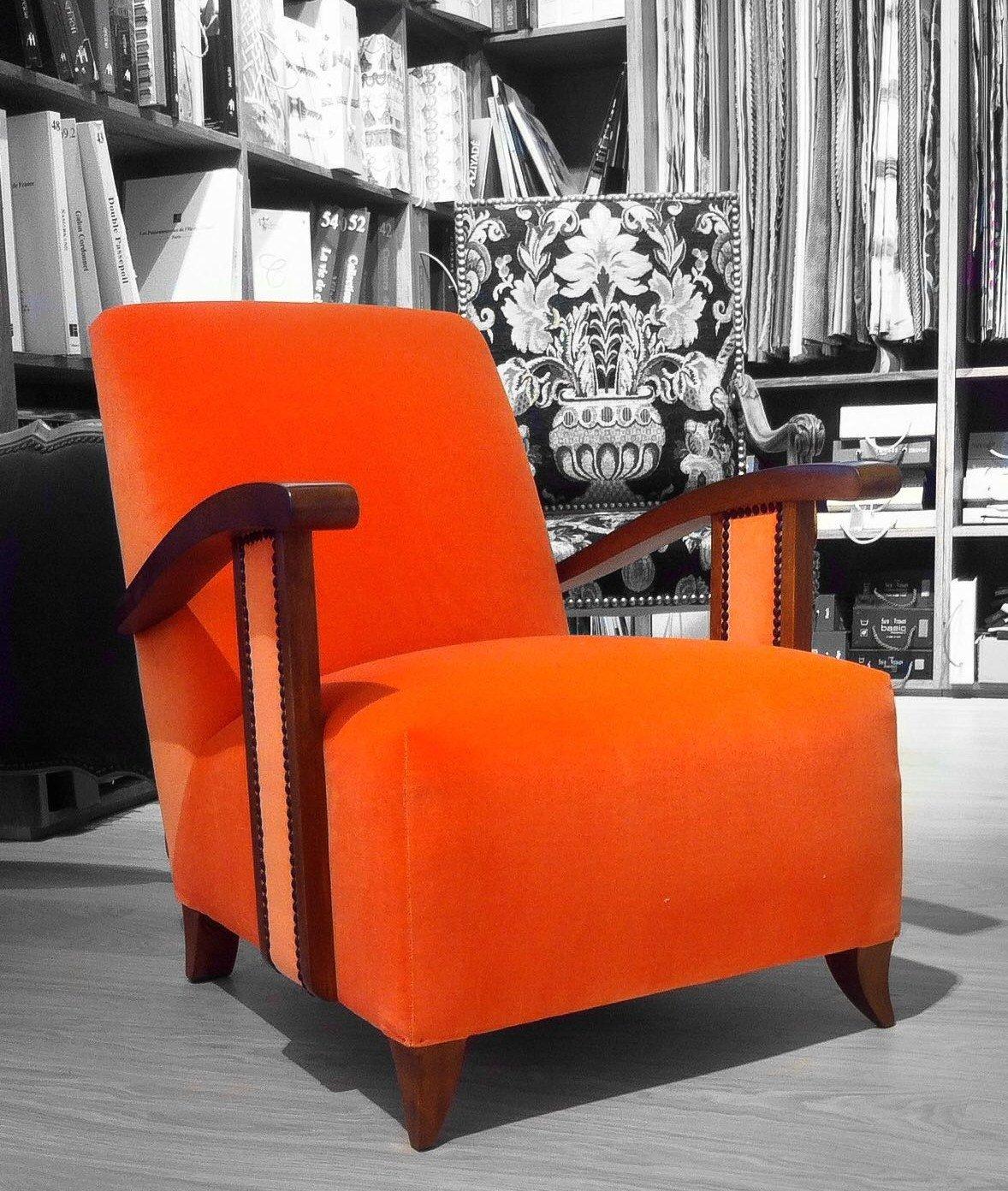 Fauteuil orange Paray