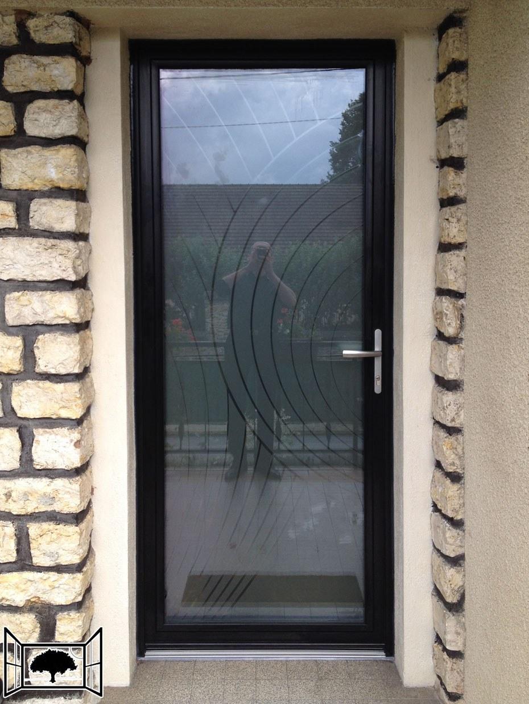 Porte vitrée alu Kline