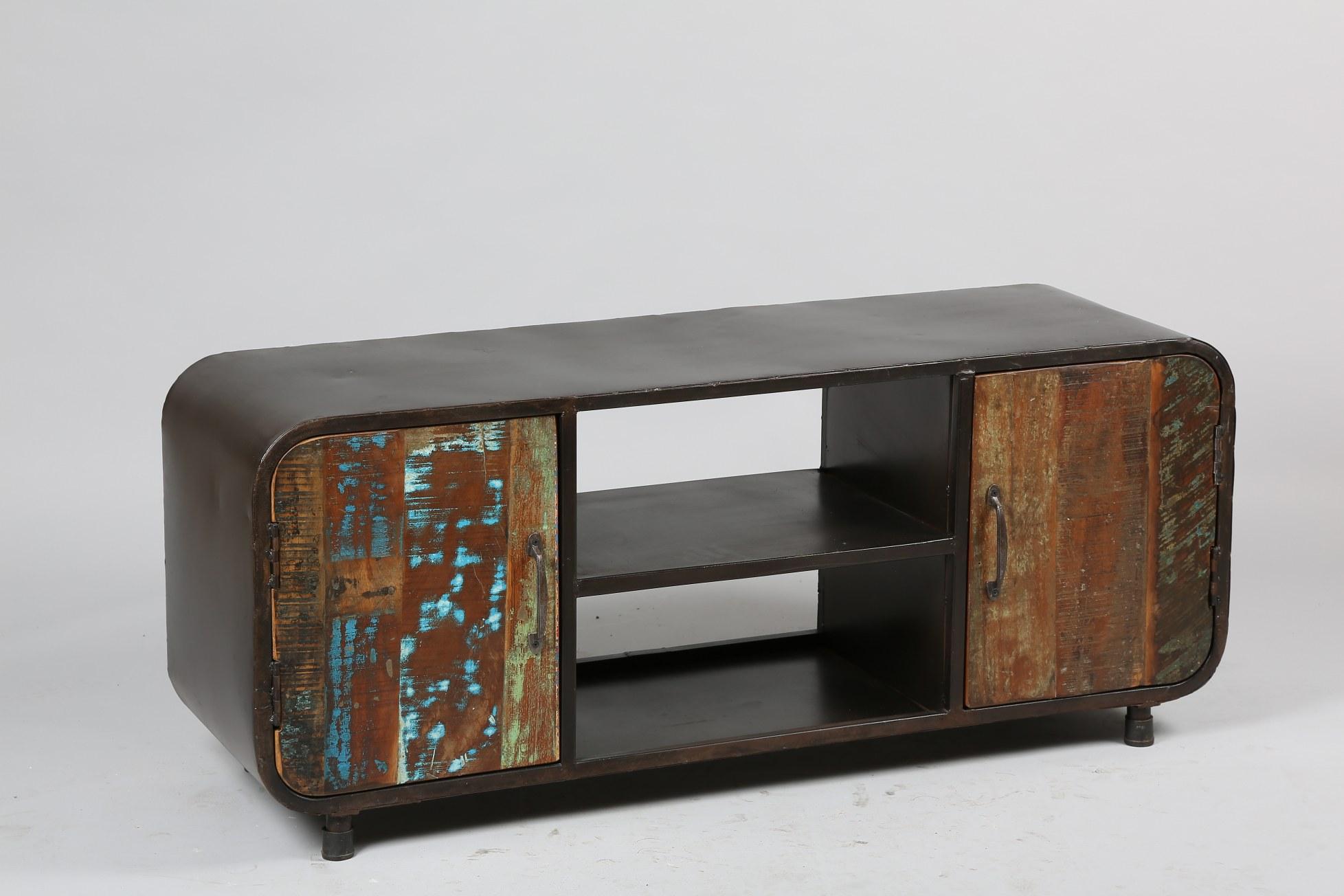 meuble TV Réf:1863 2 portes bois récupération