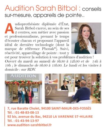 Femme actuelle - Audition Sarah Bitbol - Saint-Maur-des-Fossés