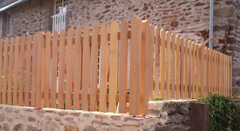 clôture bois exotique