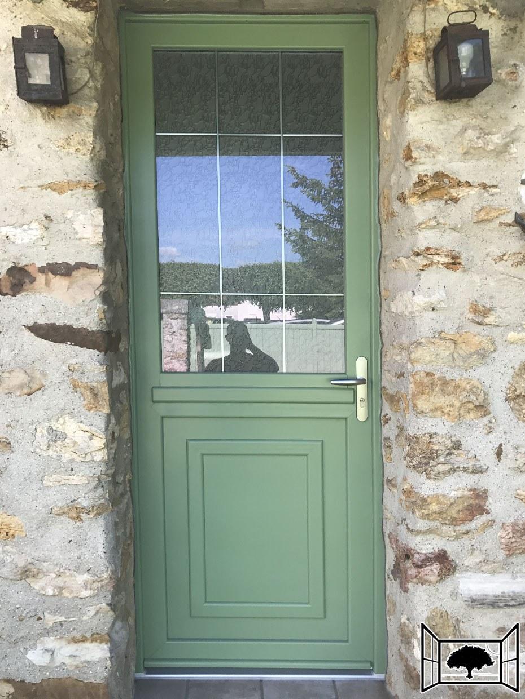 Porte PVC sur mesures Vert 6021
