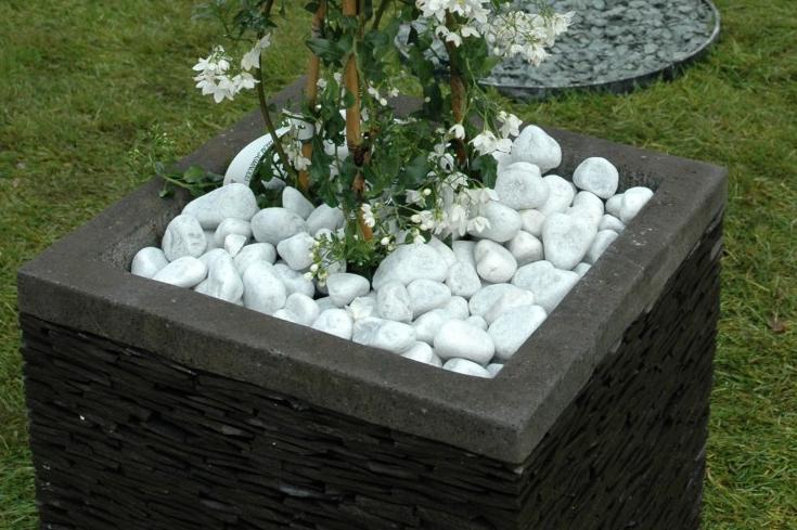 galet blanc marbre