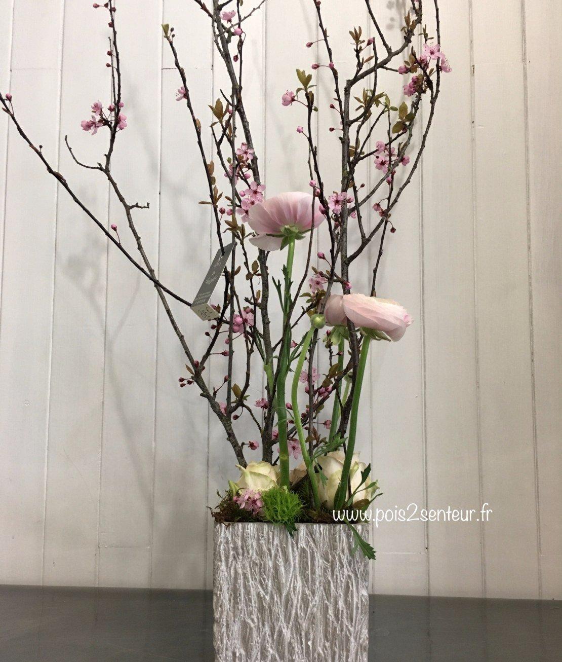composition fleurs de cerisier