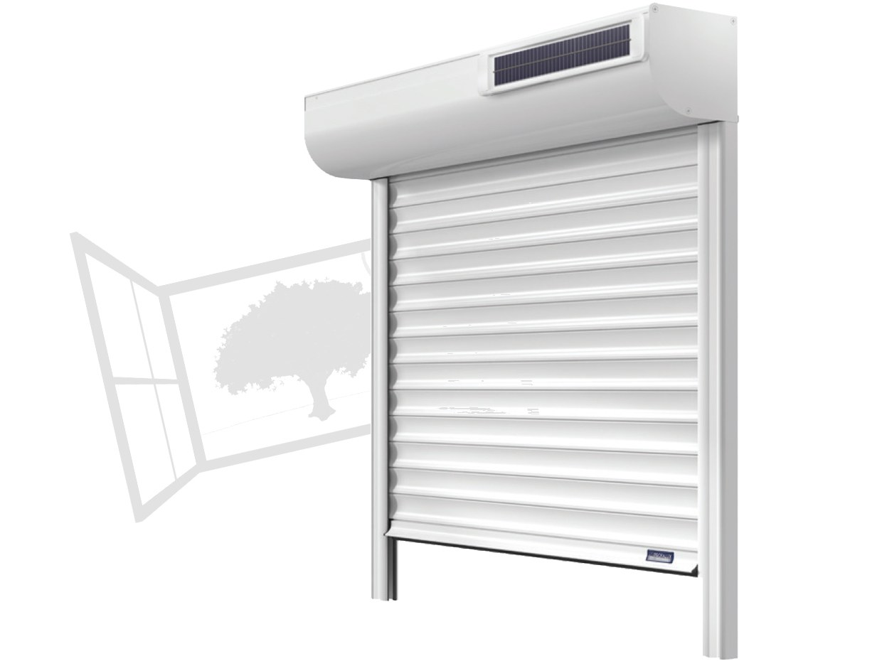 Volet roulant solaire Somfy RTS aluminium caliso