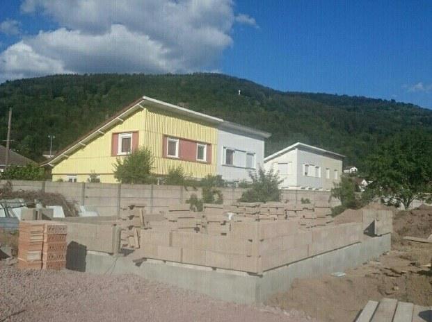 Chantier en béton de chanvre dans les Vosges