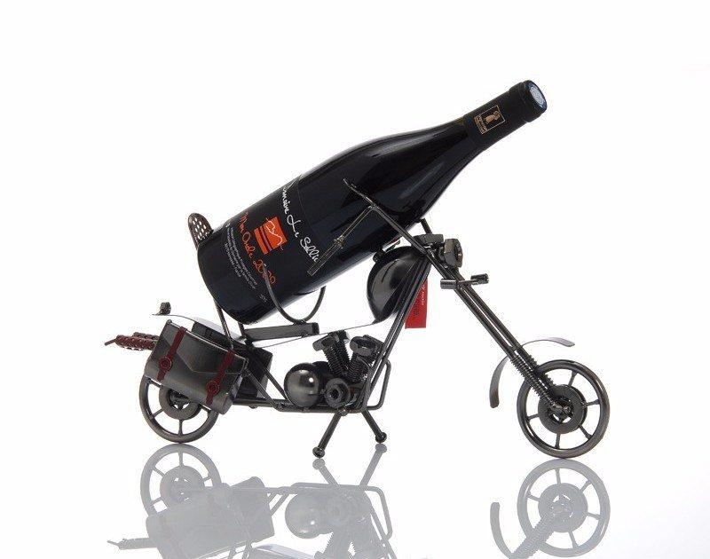 lps porte bouteille vin moto métal