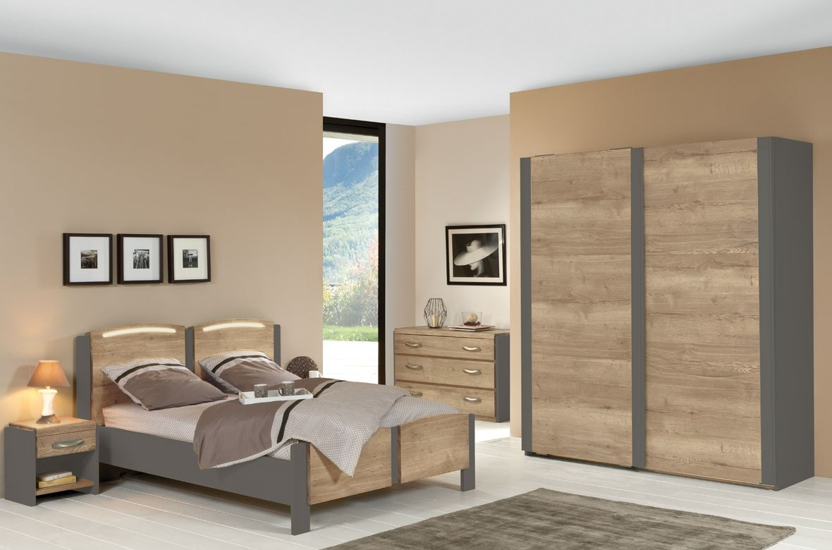 chevet calypso bois mélaminé moderne