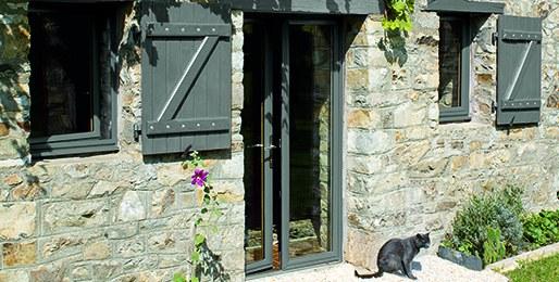 Porte-fenêtre bois aluminium CAIB