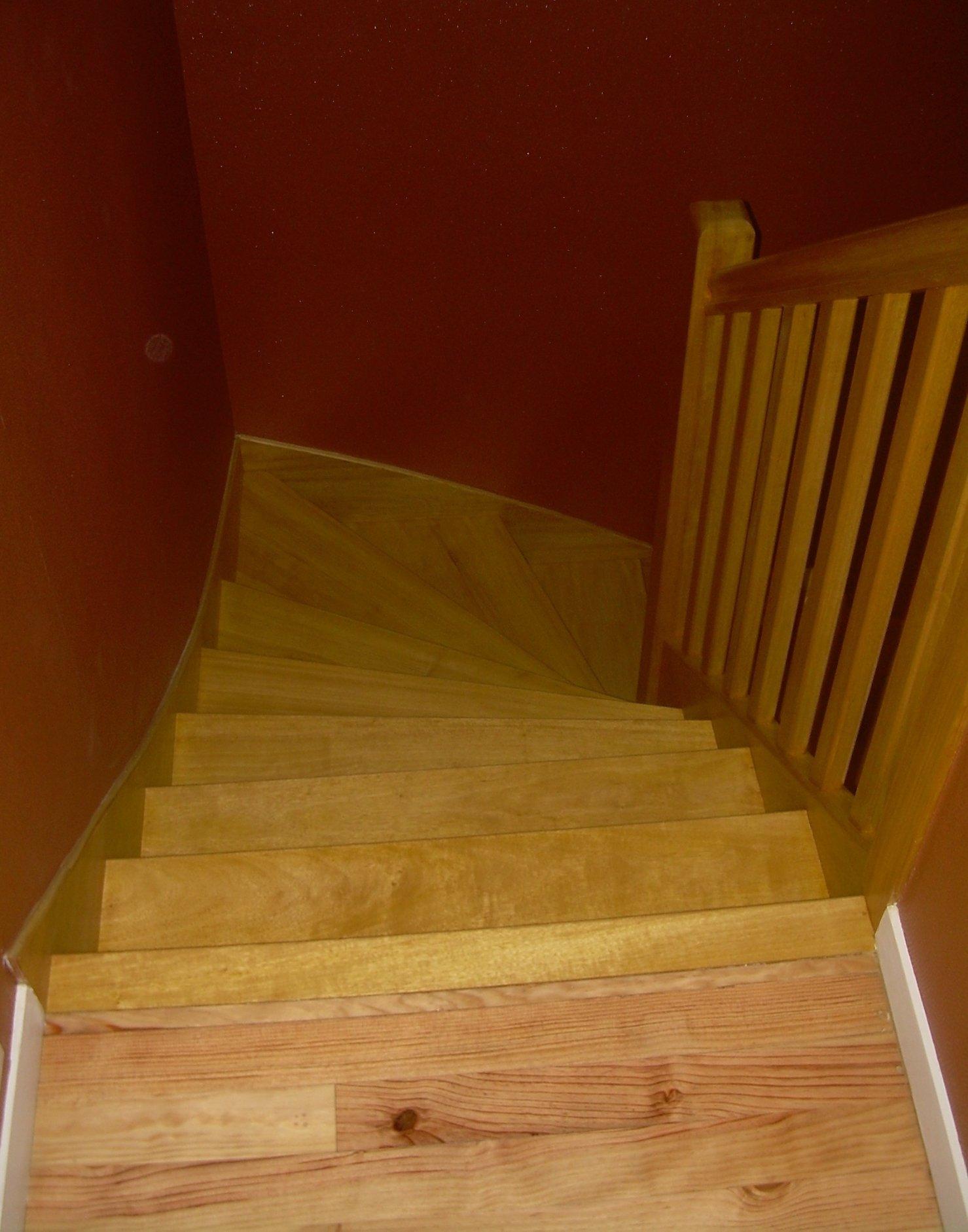 rénovation escalier suite incendie