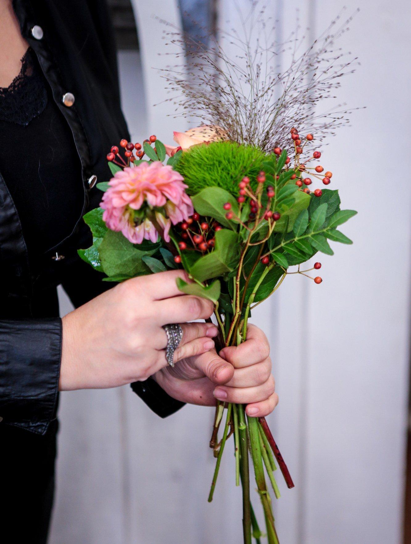 preparaton d'un bouquet