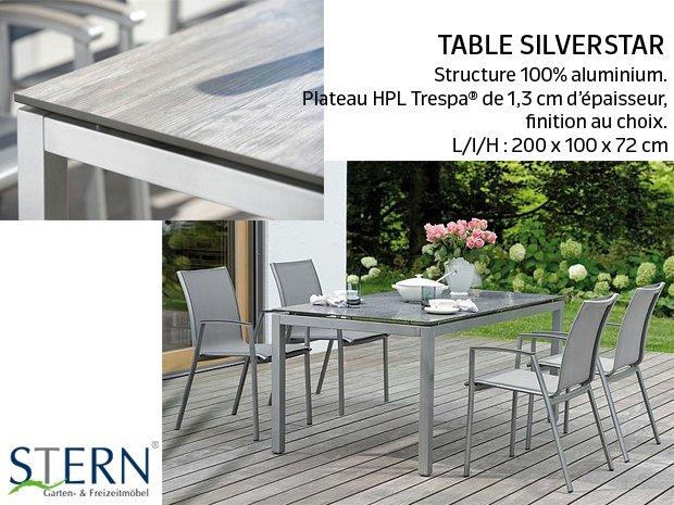 Table Stern Silverstar
