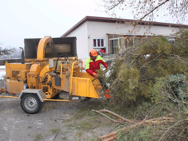 Broyage de branches et déchets végétaux