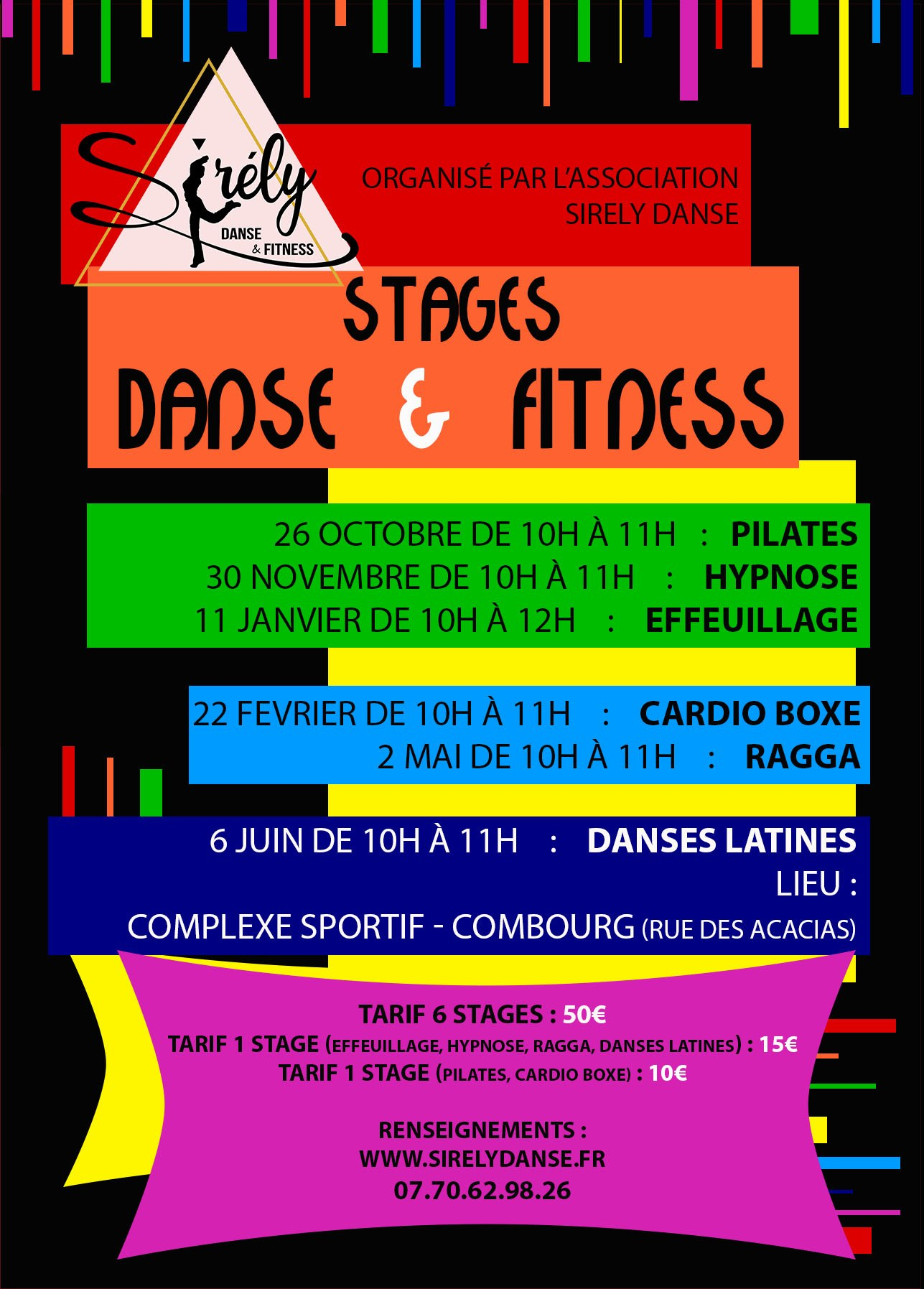 stages danse fitness hypnose pilates combourg