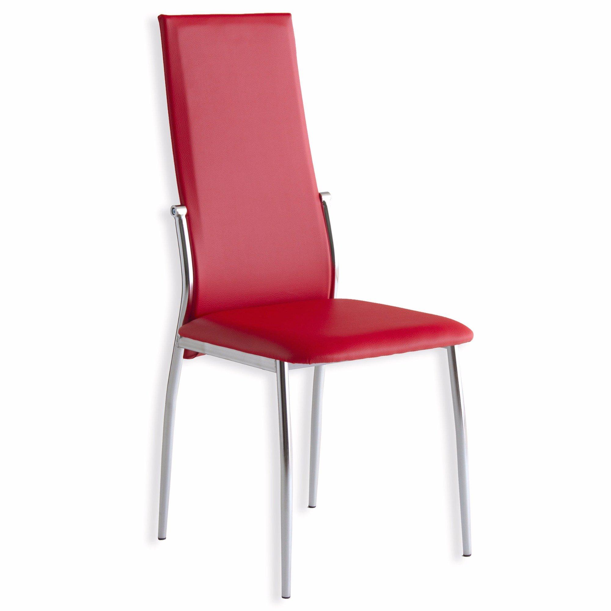 chaise doris rouge