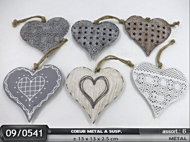 coeur à suspendre en metal