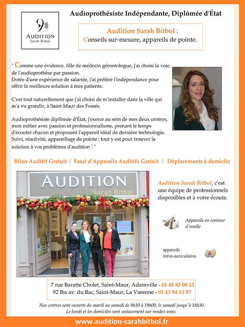 Audioprothésiste indépendante - Audition Sarah Bitbol - Saint-Maur-des-Fossés