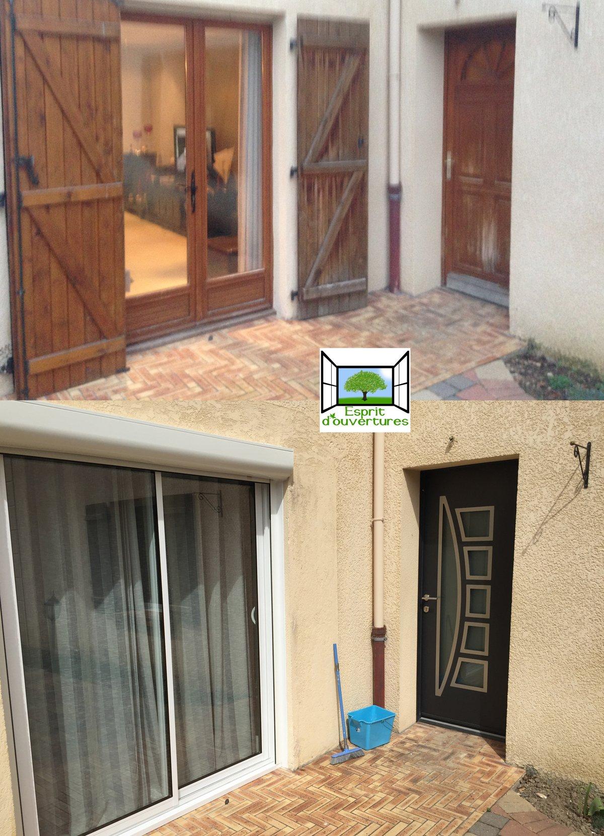 porte baie volet esprit d'ouvertures avant/apres renovation alu aluminium