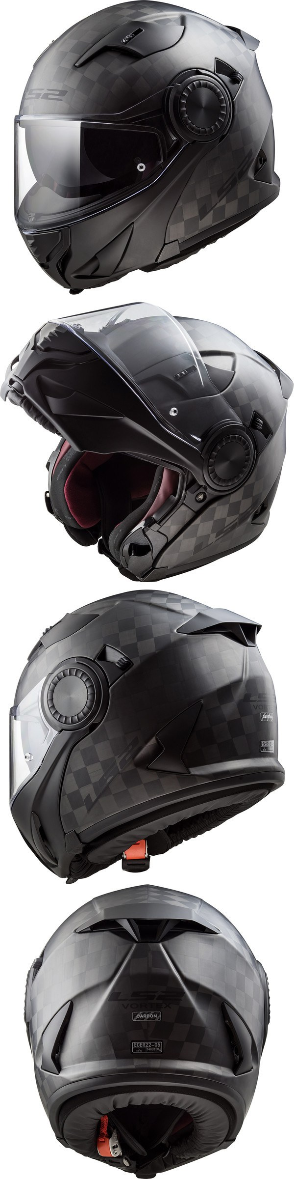 Casque FF313 Vortex Solid Carbon LS2 Noir