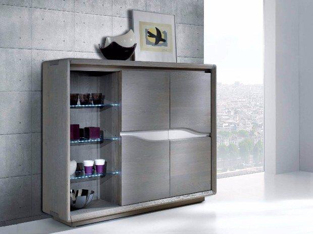 CERAM meuble d appui chene massif moderne