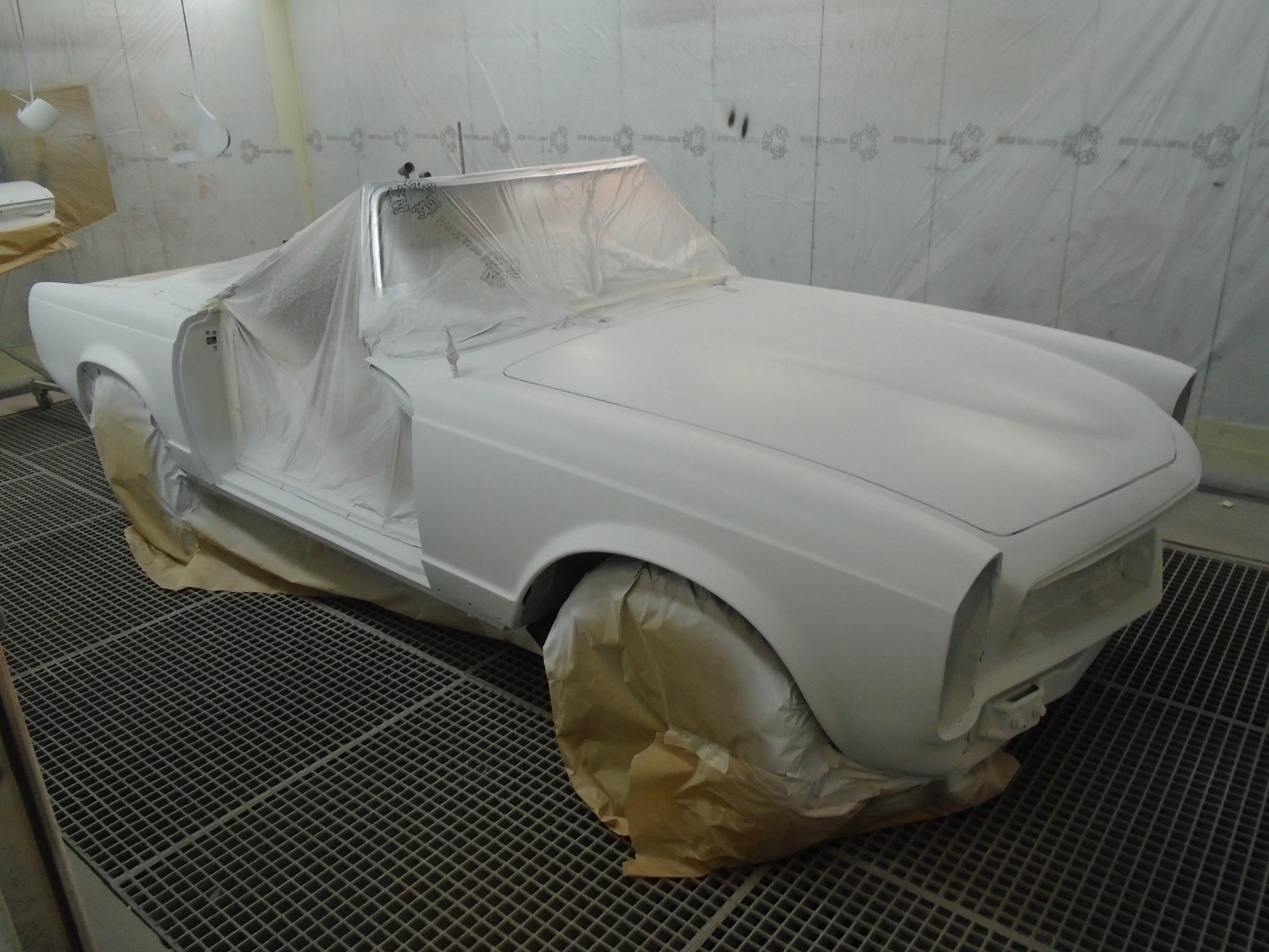 après la carrosserie , la peinture