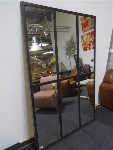 2 miroir indus style verri re en m tal 180 x 120 au coeur du temps vintage store vannes. Black Bedroom Furniture Sets. Home Design Ideas