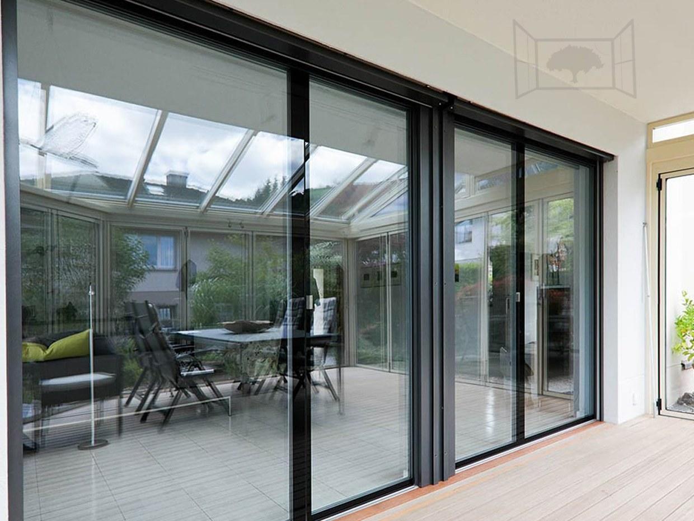 Fenêtre ultra design baie vitrée véranda façade vitrée Clara