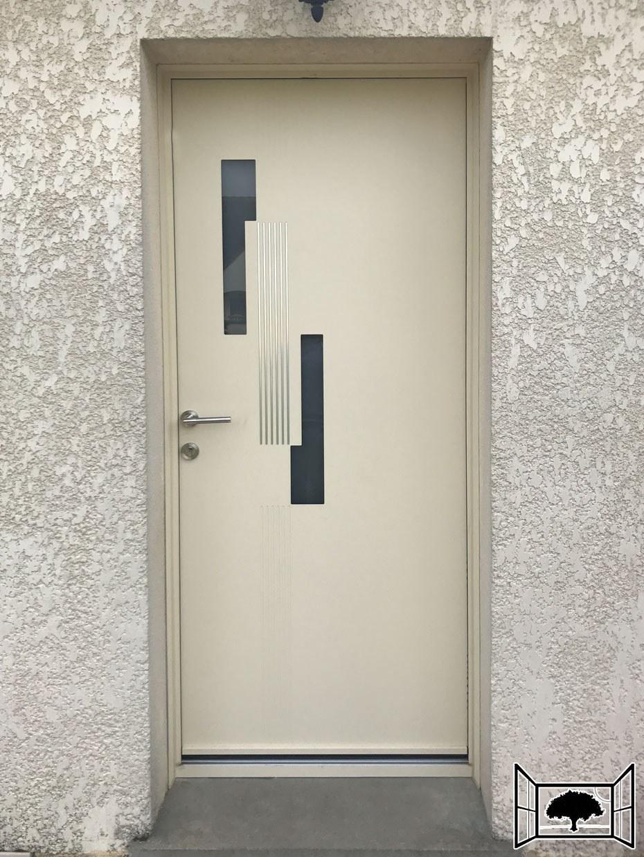 Porte aluminium beige 1015