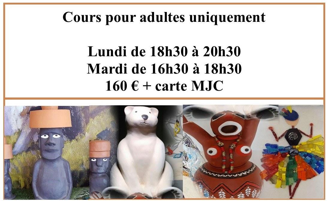 MEILLEURS COURS POTERIE MOSAIQUE CONTEMPORAINE ART MJC DES BLANCHETTES MACON 71000 PRIX BAS PAS CHER