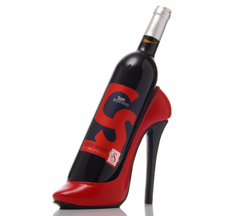 chaussure bouteille rouge