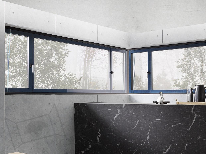 Fenêtre verre clara cuisine design moderne clarafenster