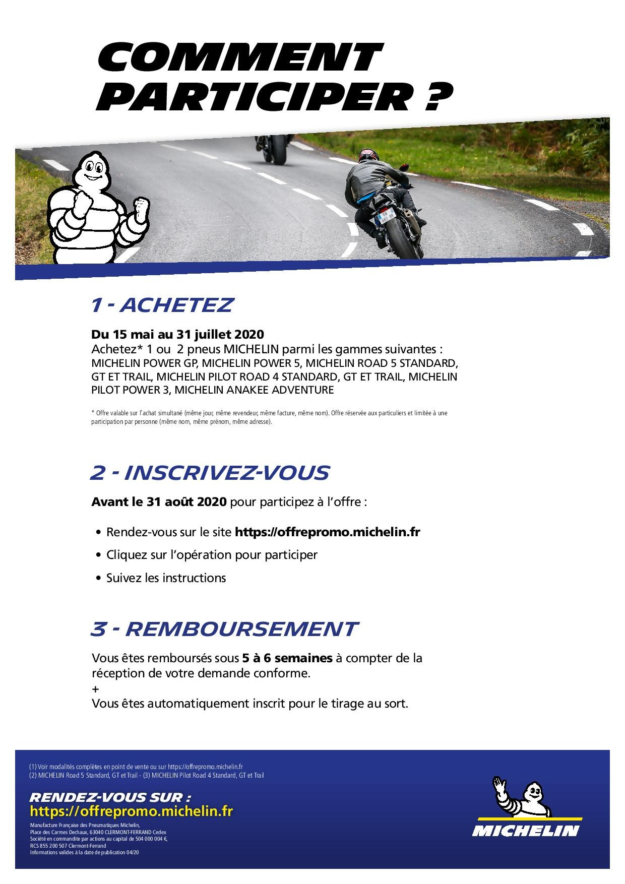OPERATION MICHELIN du 15 mai au 31 juillet 2020