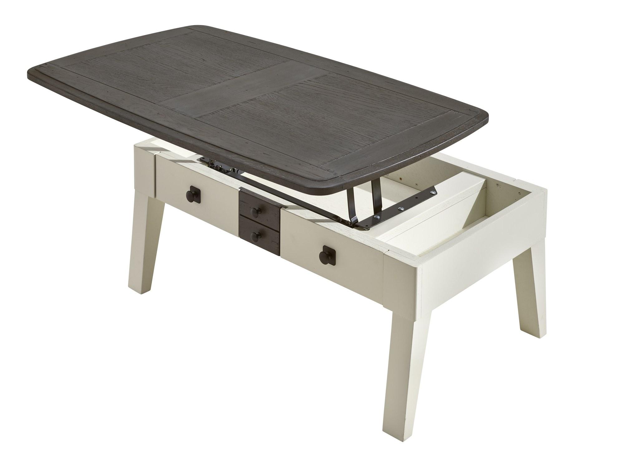 Séraphine chêne massif table basse dinette