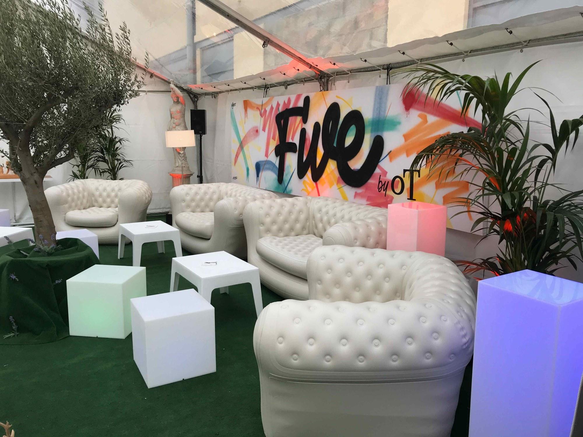 jardin d'hiver - Paris - Canapé gonflable - Mk Prod & Event