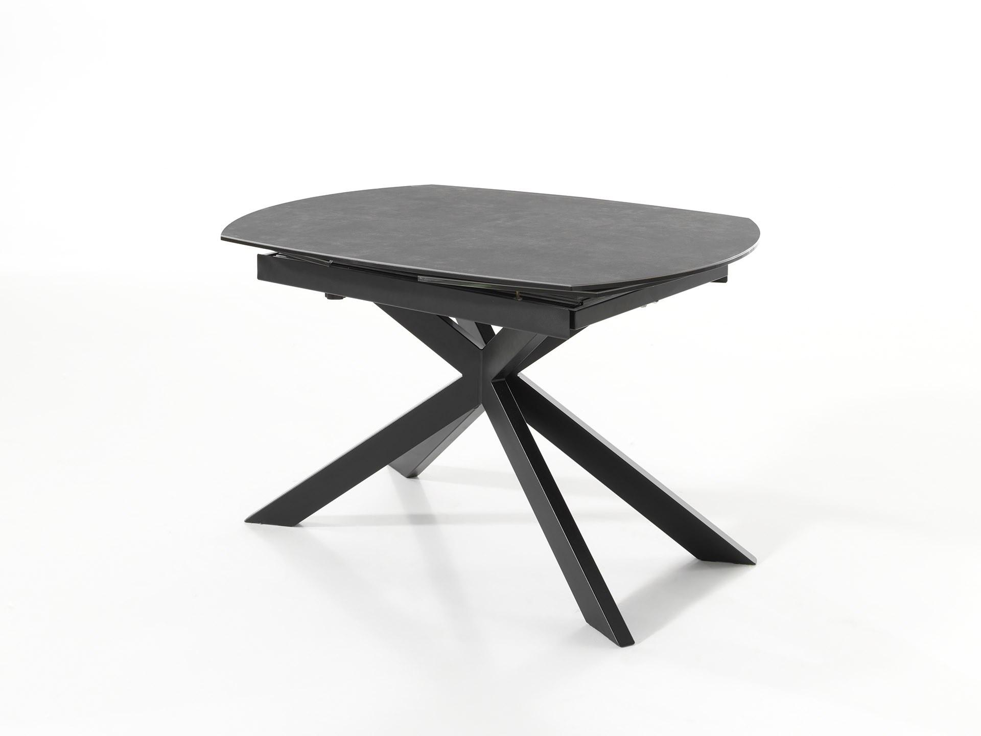 Table Jeremy G céramique et pied métal