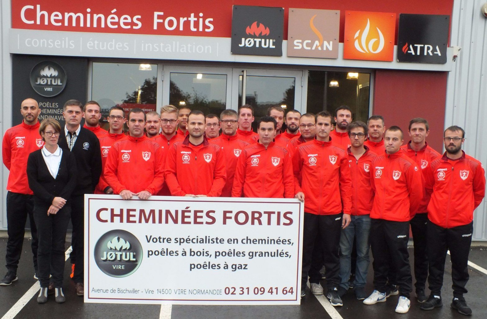Cheminées Fortis Jotul Vire Nouveau sponsor de l'équipe de foot de Vaudry
