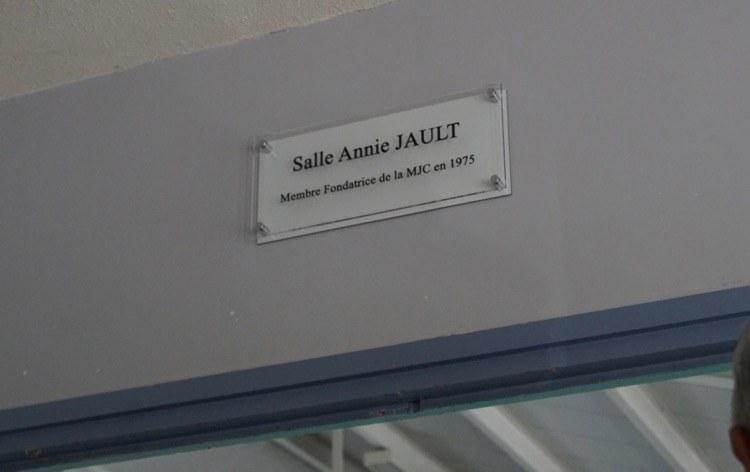 PLAQUE D'HONNEUR ANNIE JAULT