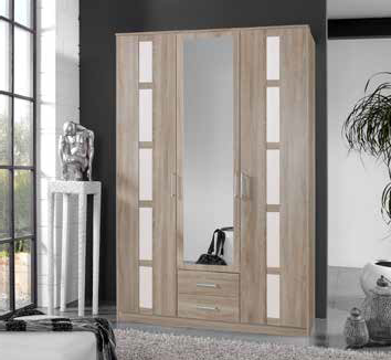 solo armoire 3 portes 2 tiroirs