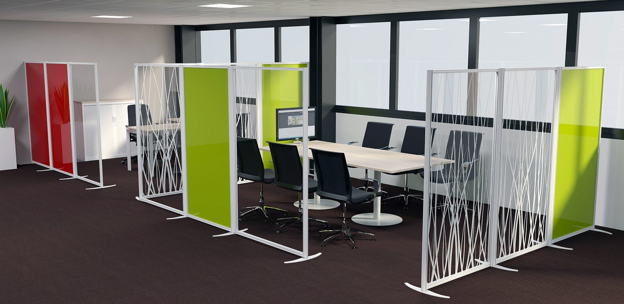 Solution cloison modulable acoustique décorative SUD APPLICATIONS