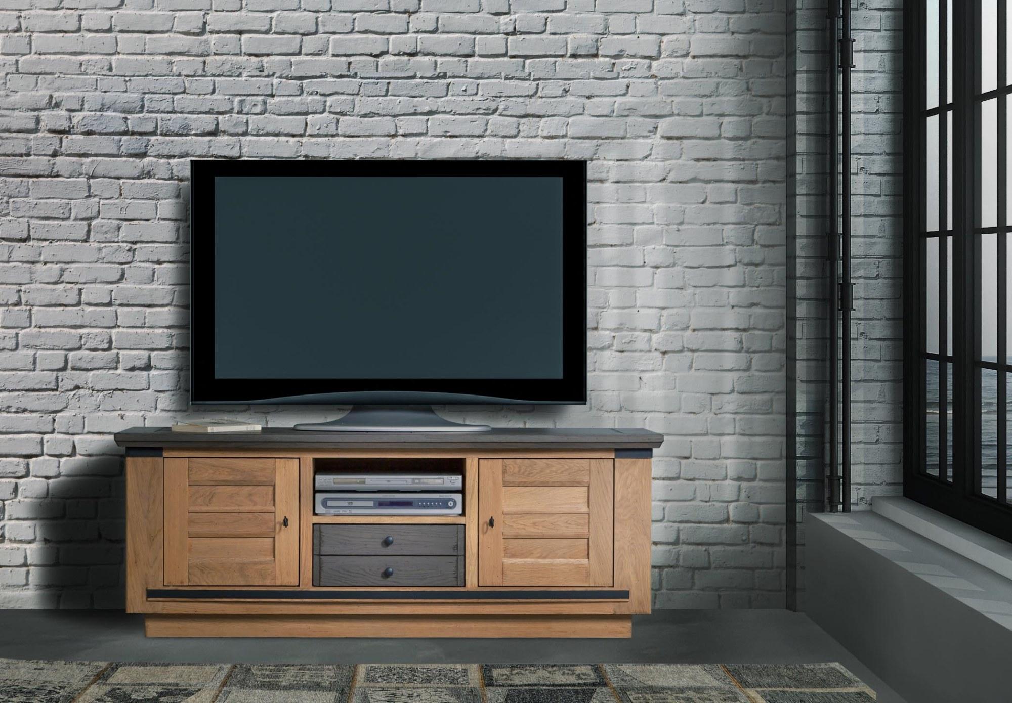 MAGELLAN MEUBLE TV 2 PORTES 1 TIROIR 1 NICHE