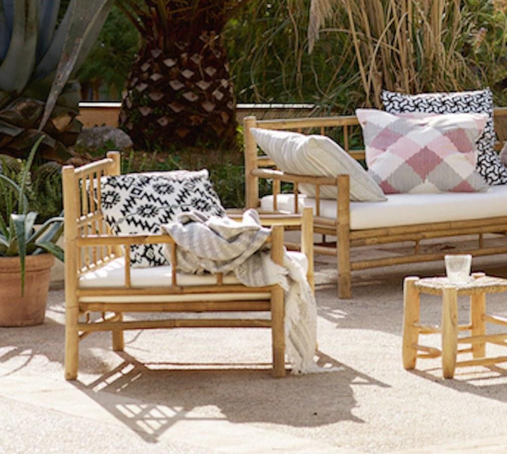 Chaise lounge en bambou