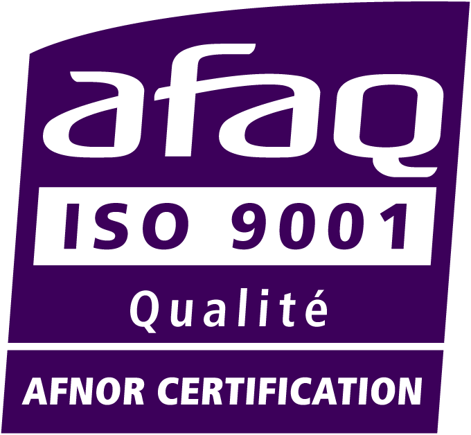 Certification ISO 9001 obtenue en novembre 2015